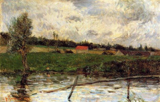 paul gauguin riverside paintings