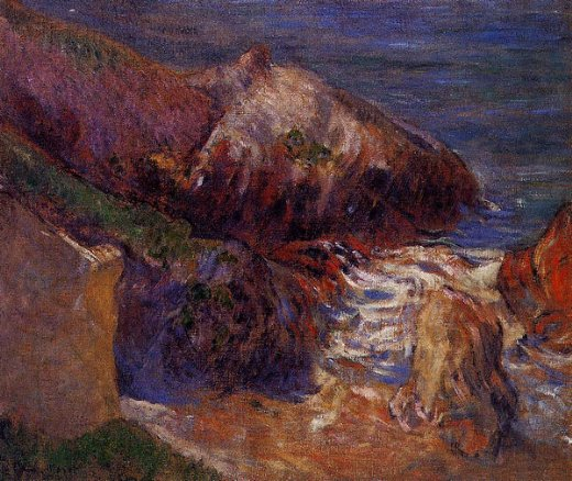 paul gauguin rocks on the coast posters
