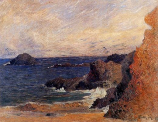 paul gauguin rocky coast paintings