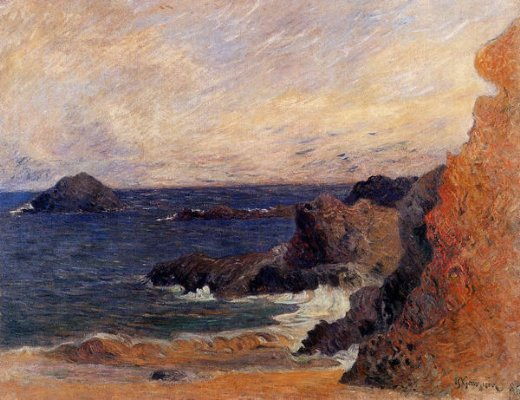paul gauguin rocky coast painting