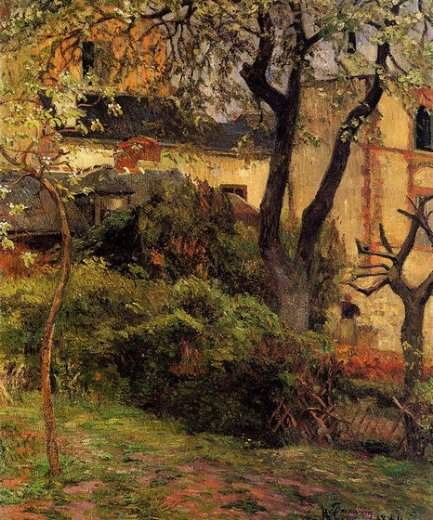 paul gauguin rouen spring painting