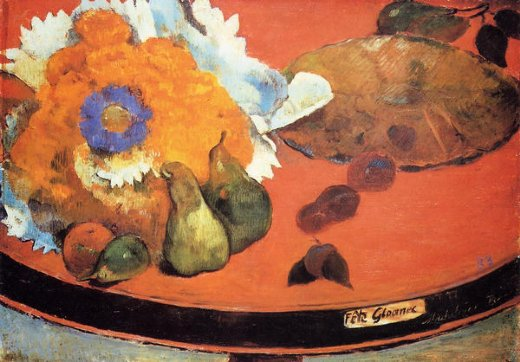 paul gauguin still life fete gloanec oil painting