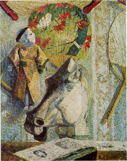 paul gauguin still life with horse s head paintings