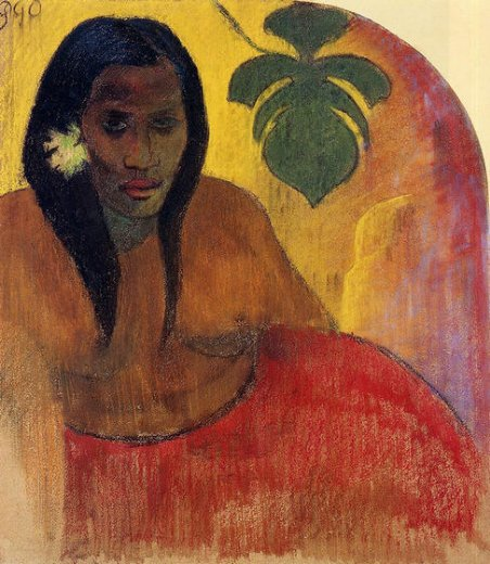 paul gauguin tahitian woman oil painting