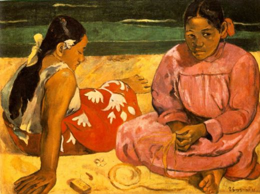 paul gauguin tahitian women on the beach paintings