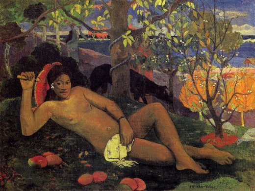 paul gauguin te arii vahine painting