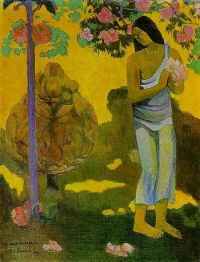 paul gauguin te avae no maria painting