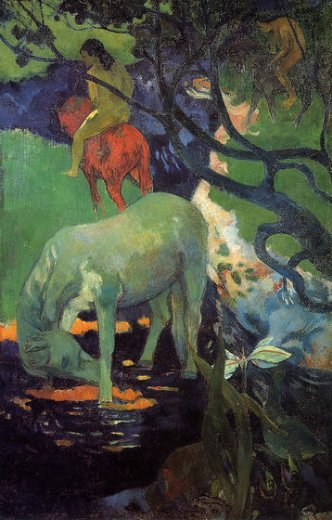 paul gauguin the white horse paintings
