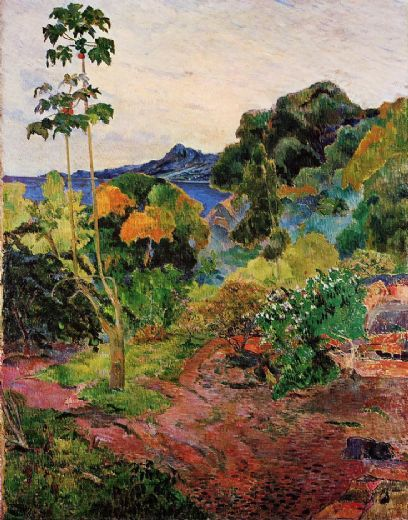 paul gauguin tropical vegetation paintings