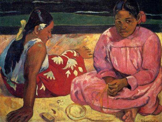 paul gauguin two women on beach paintings