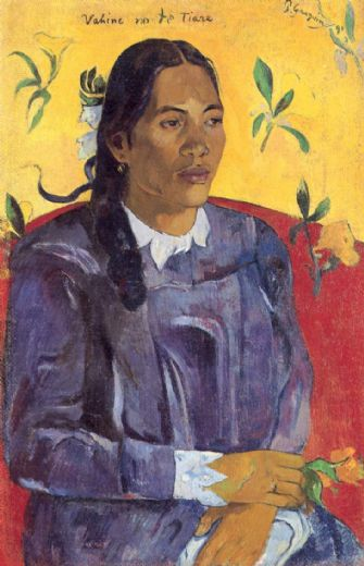 paul gauguin woman with a flower paintings
