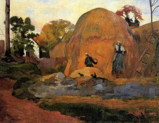 paul gauguin yellow haystacks oil painting