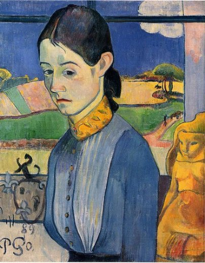 paul gauguin young breton woman paintings