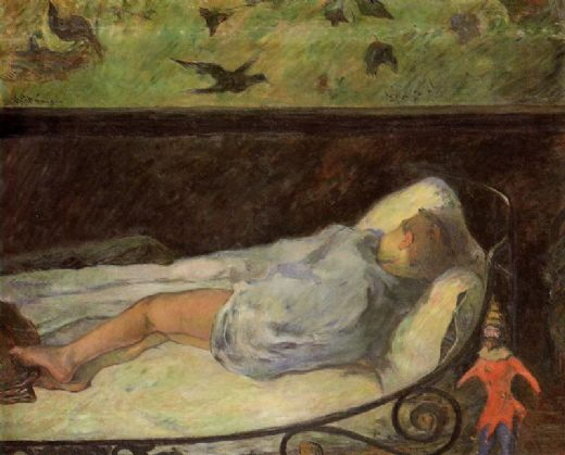 paul gauguin young girl dreaming paintings