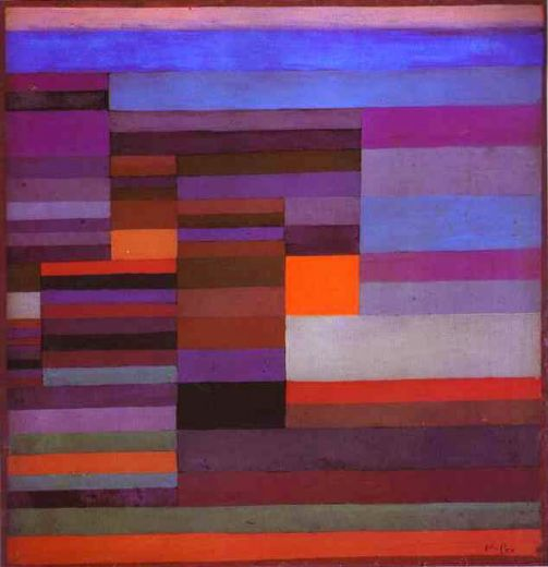 paul klee fire in the evening paintings