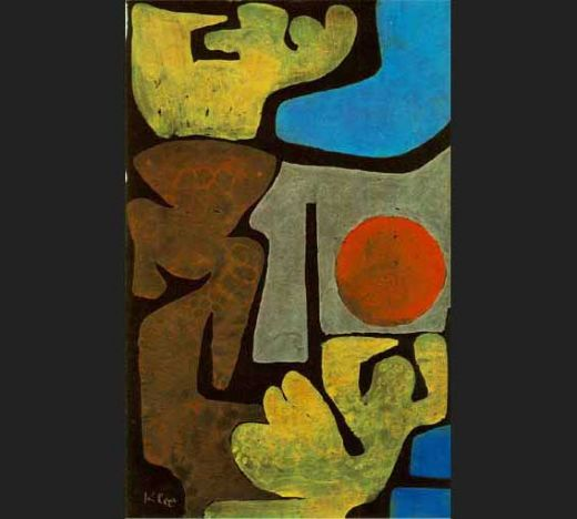 paul klee park of idols oil painting
