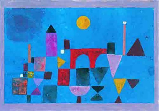 paul klee red bridge paintings