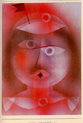 paul klee the mask with the little flag paintings