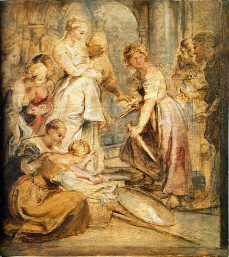 peter paul rubens achilles and the daughters of lykomedes painting