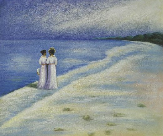 peter severin kroyer summer afternoon on skagen beach painting