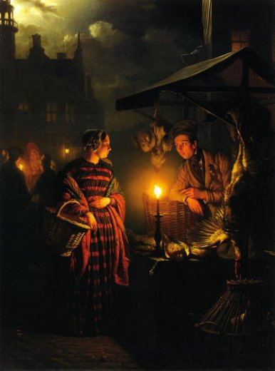 Candlelight Oil Painting