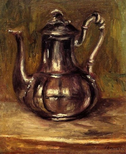 Coffee Painting on Canvas Painting Coffee Pot