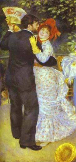 pierre auguste renoir country dance (aline charigot and paul lhote) painting