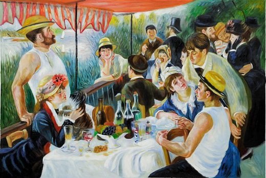 pierre auguste renoir luncheon of the boating party iv painting