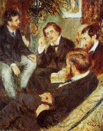 pierre auguste renoir the artist s studio rue saint painting