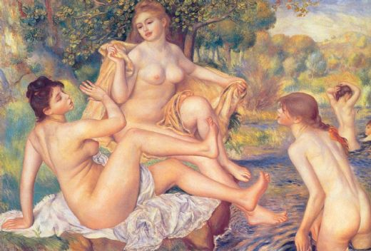 pierre auguste renoir the large bathers paintings