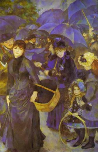 pierre auguste renoir the umbrellas paintings for sale without oil painting