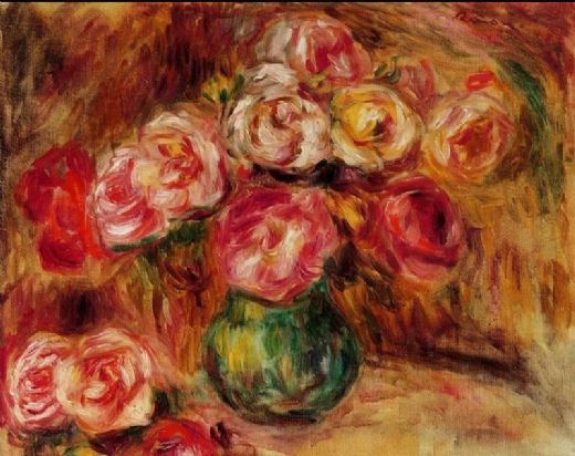 pierre auguste renoir vase of flowers ii paintings