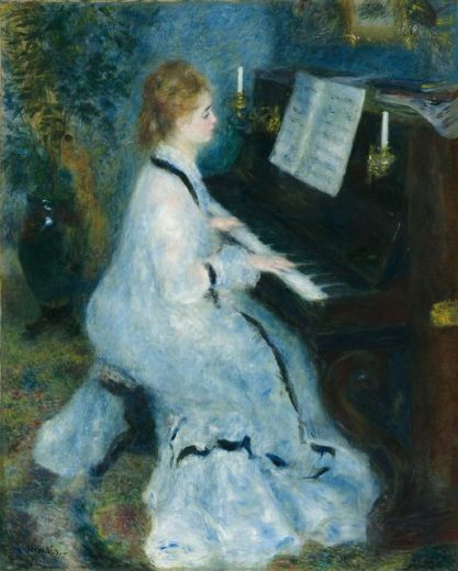 pierre auguste renoir woman at the piano paintings