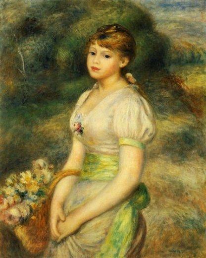 Renoir girl with flowers things, speaks)