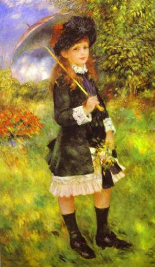 pierre auguste renoir young girl with parasol (aline nunes) paintings