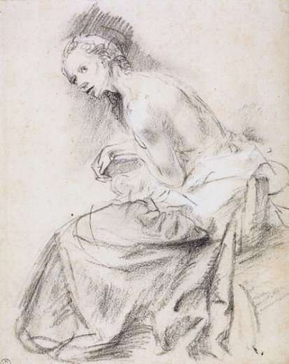 rembrandt van rijn a seated female nude as susanna painting