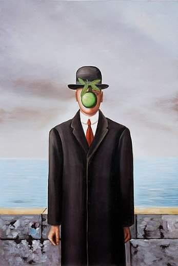 Rene Magritte The Son Of Man son of man painting - ...