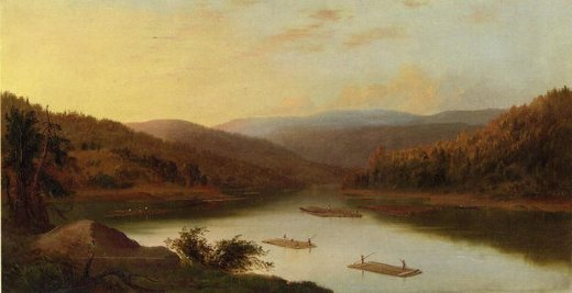 robert scott duncanson flatboat men paintings