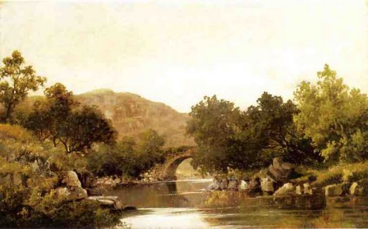 robert scott duncanson the stone bridge painting