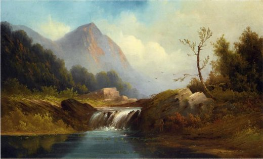 robert scott duncanson wilderness idyll posters