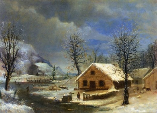 robert scott duncanson winter painting