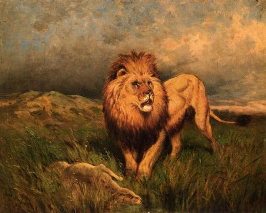Rosa Bonheur Lion And Prey Painting Amp Rosa Bonheur Lion