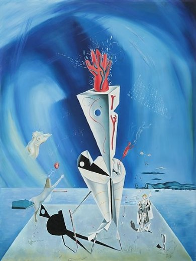 salvador dali apparatus and hand paintings