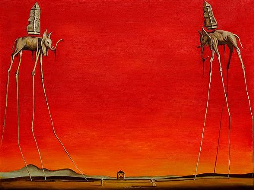 salvador dali the elephants paintings