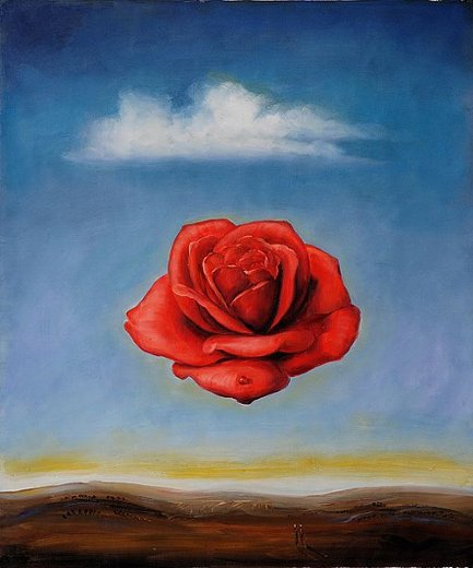 salvador dali the meditative rose painting