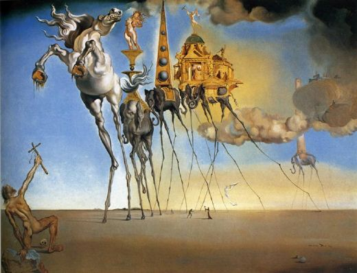 salvador dali the temptation of st. anthony paintings