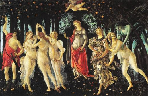 sandro botticelli la primavera paintings