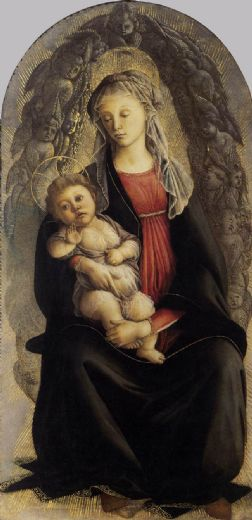 sandro botticelli madonna in glory with seraphim painting