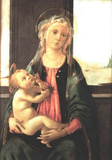 sandro botticelli madonna of the sea painting