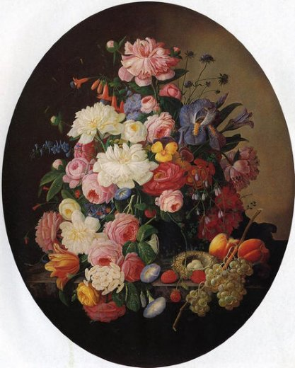 severin roesen floral still life with bird s nest ii painting